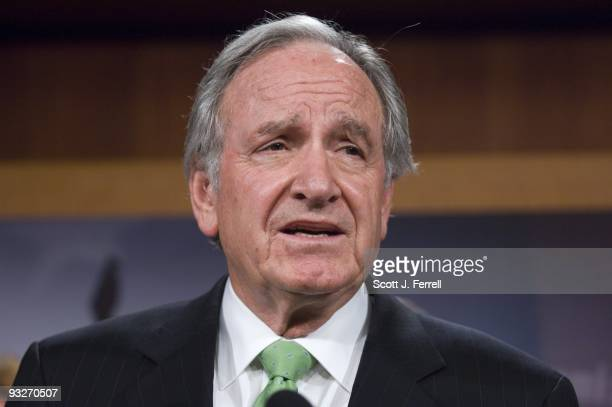 Senate Health Education Labor and Pensions Chairman Tom Harkin DIowa during a news conference after the release of the Senate leadership's version of...