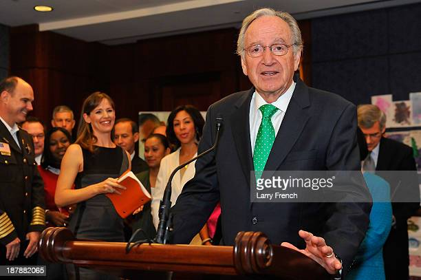Senate Health Education Labor and Pensions Committee chairman Tom Harkin speaks at the Strong Start for America's Children bill introduction at the...