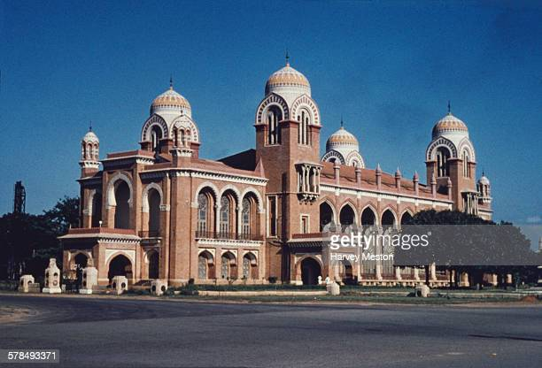 Senate House the administrative centre of the University of Madras in Madras India circa 1970 Built in 1864 it was designed by Robert F Chisholm in...