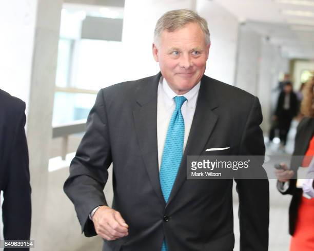 Senate Intelligence Committee Chairman Richard Burr arrives at a closed door committee hearing on September 19 2017 in Washington DC The committee is...
