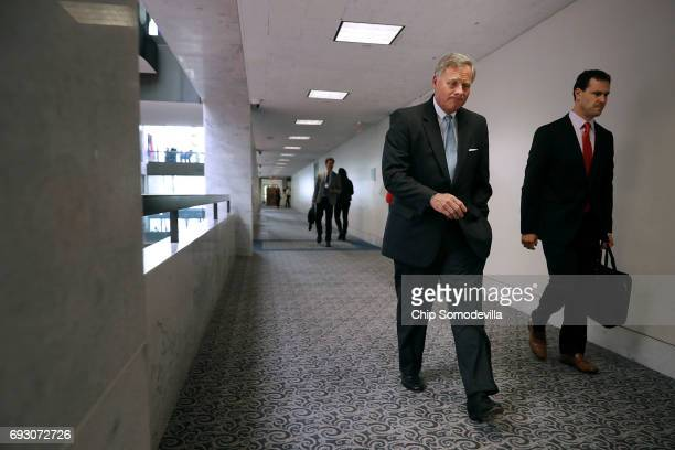 Senate Intelligence Committee Chairman Richard Burr arrives for a closeddoor committee meeting in the Hart Senate Office Building on Capitol Hill...