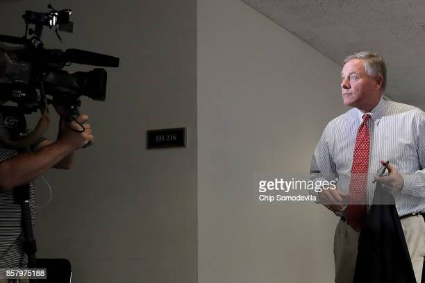 Senate Intelligence Committee Chairman Richard Burr leaves a closeddoor hearing in the Hart Senate Office Building on Capitol Hill October 5 2017 in...