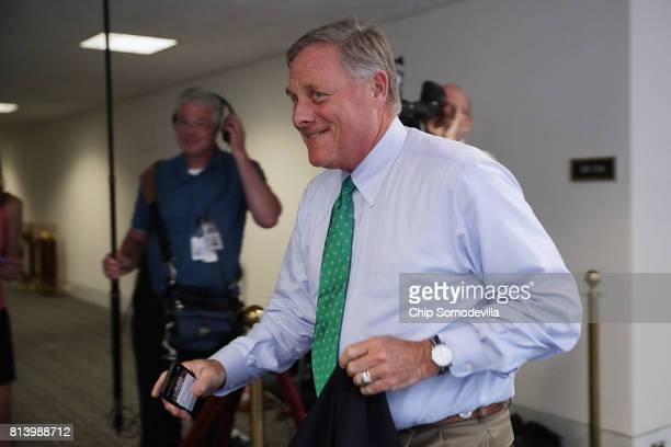 Senate Intelligence Committee Chairman Richard Burr leaves after attending a closeddoor committee meeting in the Hart Senate Office Building on...