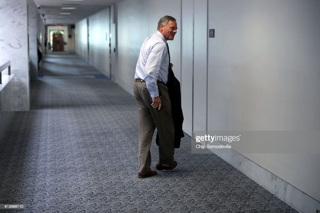 Senate Intelligence Committee Chairman Richard Burr (R-NC) leaves after attending a closed-door committee meeting in the Hart Senate Office Building on Capitol Hill July 13, 2017 in Washington, DC. Some members of the committee have demanded that Donald Trump, Jr. testify before the intelligence committee after it was revealed that he and Jared Kushner and Paul Manafort met with a Russian lawyer in hopes of getting opposition information on Hillary Clinton during the 2016 election.