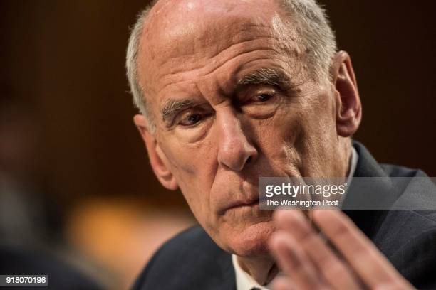 WASHINGTON DC Senate Intelligence Committee hears testimony from Director of National Intelligence Daniel Coats Deputy Attorney General Rod...