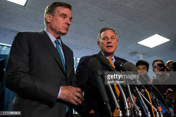 Senate Intelligence Select Committee on Intelligence Ranking Member Sen Mark Warner and Senate Select Committee on Intelligence Chairman Sen Richard...