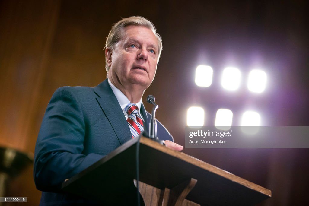 Sen. Lindsey Graham Holds A Press Conference On The Crisis At The Border : News Photo