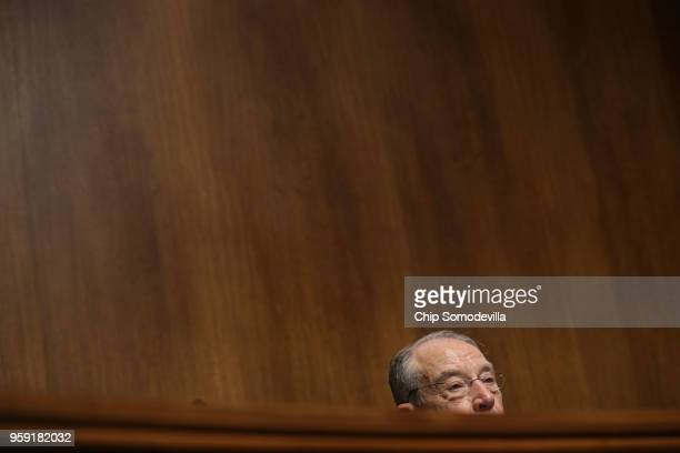 Senate Judiciary Committee Chairman Charles Grassley presides over a hearing about Cambridge Analytica and the future of data privacy in the Dirksen...