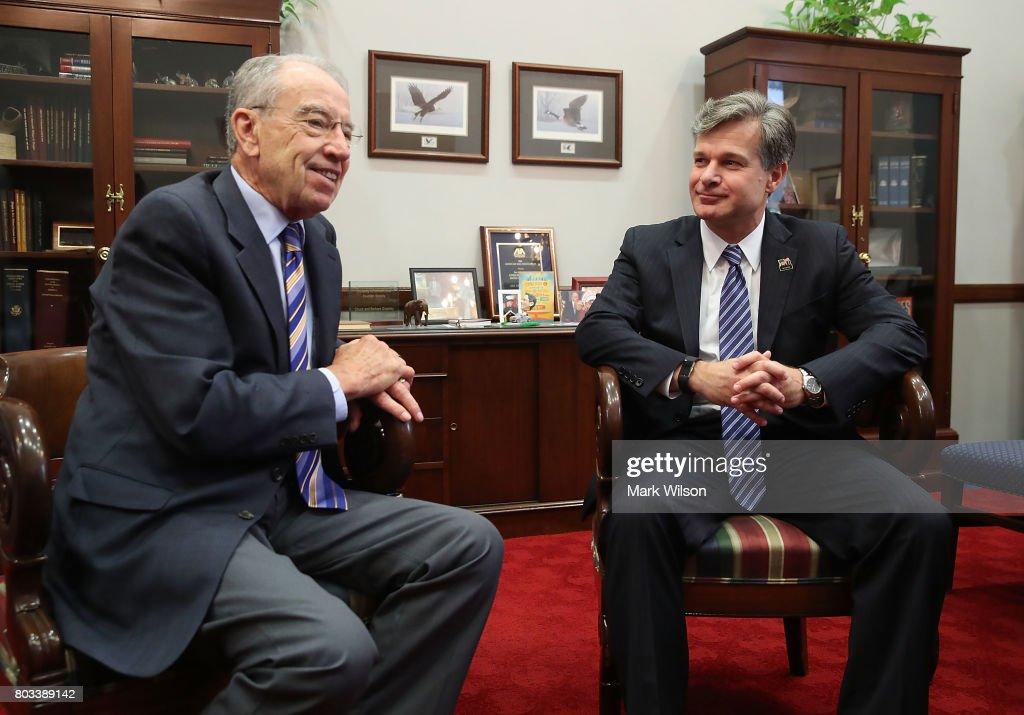 Sen. Grassley  Meets With Trump's FBI Director Nominee Christopher Wray
