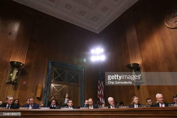 Senate Judiciary Committee members Sen Mike Crapo Sen Jeff Flake Sen Ben Sasse Sen Ted Cruz Sen Mike Lee Sen John Cornyn Sen Lindsey Graham and Sen...