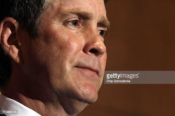 Senate Majority Leader Bill Frist holds a news conference in the run up to a series of U.S. Senate votes on stem cell research at the Capitol July...