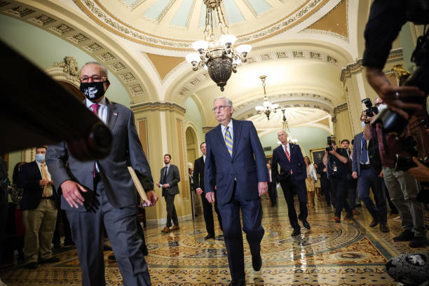 DC: Senators Meet For Weekly Policy Luncheons