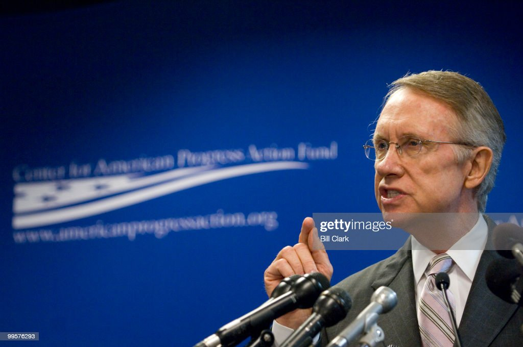 Senate Majority Leader Harry Reid, D-Nev., delivers a speech on 'The Path to Energy Independence' at The Center for American Progress on Monday morning, June 11, 2007.