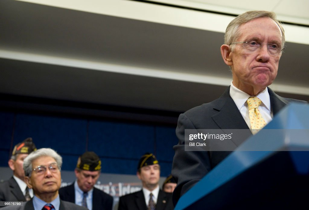 Senate Majority Leader Harry Reid holds a news conference on veterans' health care in the CVC on Tuesday, Nov. 10, 2009.