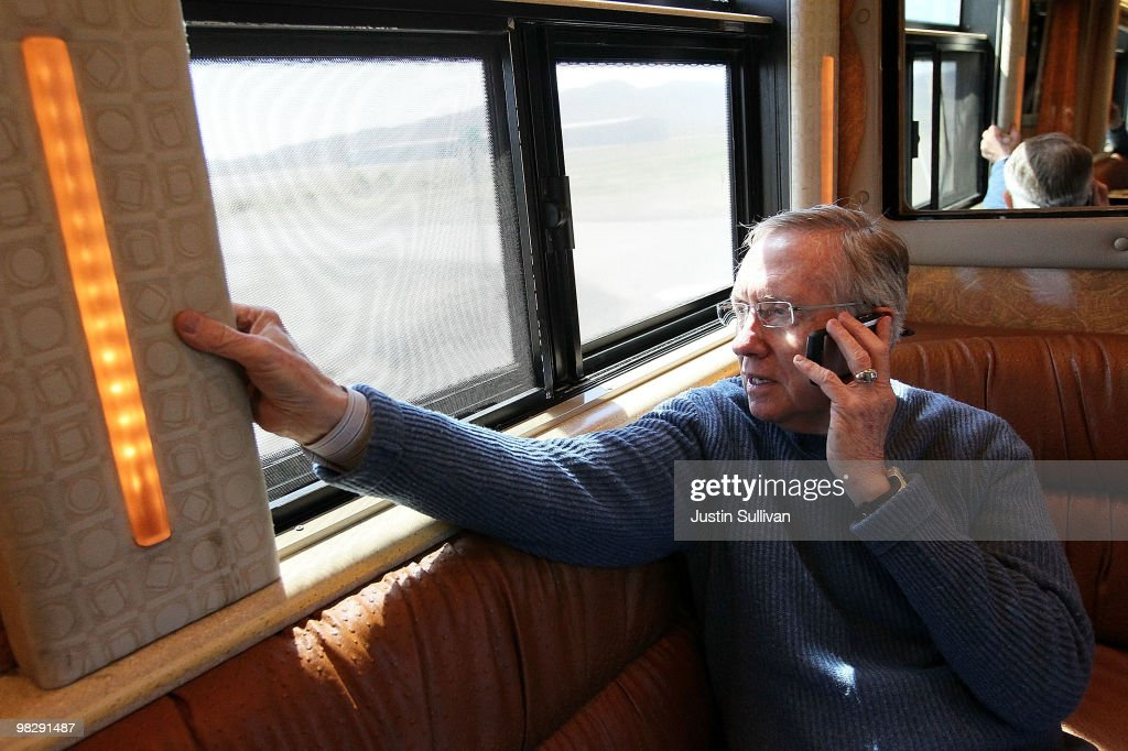 Sen. Harry Reid Embarks On Bus Tour Throughout His Home State Nevada