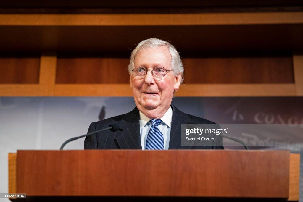 Senate Votes On Final Verdict In Impeachment Trial Of President Donald Trump : News Photo