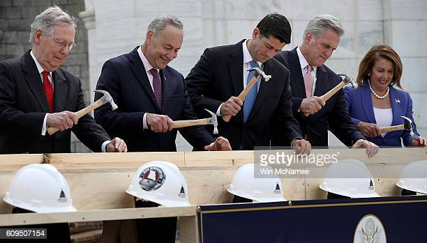 Senate Majority Leader Mitch McConnell Sen Chuck Schumer Speaker of the House Paul Ryan House Majority Leader Kevin McCarthy and House Minority...