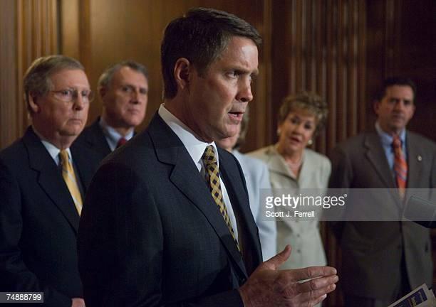Senate Majority Whip Mitch McConnell RKy Sen Jon Kyl RAriz Senate Majority Leader Bill Frist RTenn Sen Elizabeth Dole RNC and Sen Jim DeMint RSC...