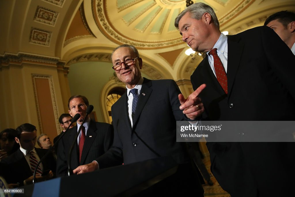 Senate Legislators Speak To The Press After Their Weekly Policy Luncheons