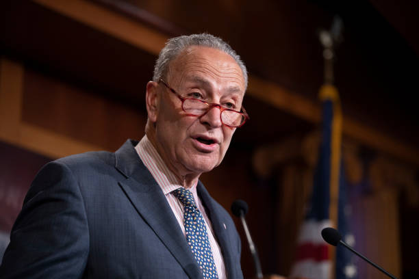 DC: Sen. Chuck Schumer Outlines Senate Democrats' Push To Secure Elections From Foreign Interference