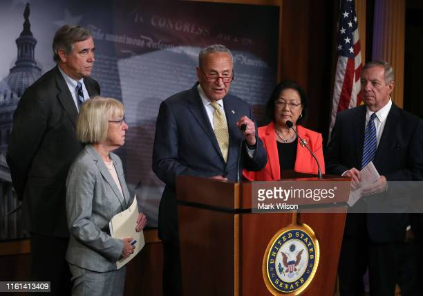 Senate Minority Leader Chuck Schumer talks about new legislation called the 'Stop Cruelty to Migrant Children Act' amid continued family separations...