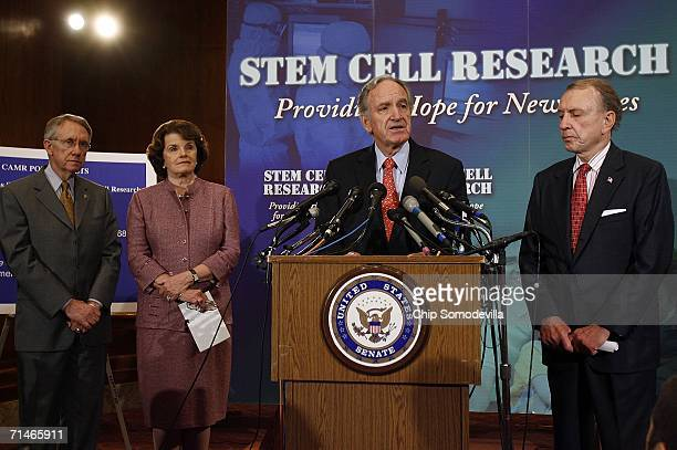 Senate Minority Leader Harry Reid , Sen. Dianne Feinstein , Sen. Tom Harkin and Senate Judiciary Committee Chairman Arlen Spector participate in a...