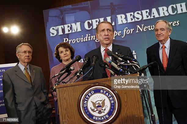 Senate Minority Leader Harry Reid , Sen. Dianne Feinstein , Senate Judiciary Committee Chairman Arlen Spector and Sen. Tom Harkin participate in a...
