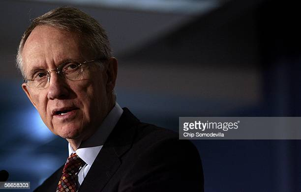 S Senate Minority Leader Harry Reid speaks about what he thinks US President George W Bush should speak about in his upcoming State of the Union...