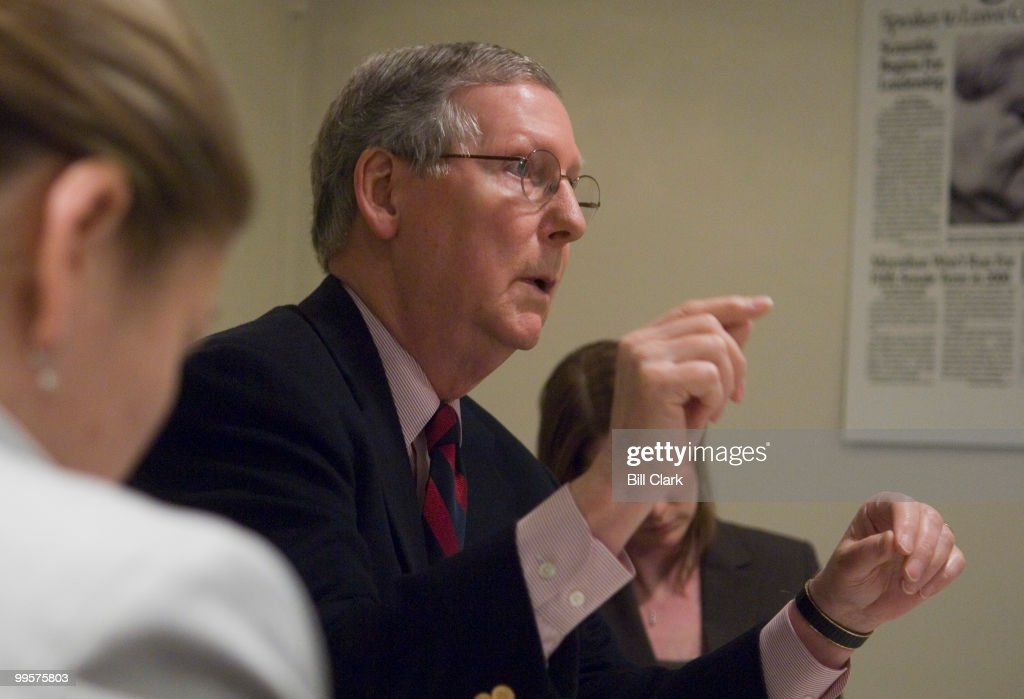 Senate Minority Leader Mitch McConnell, R-Ky., speaks to Roll Call on Friday, March 9, 2007.