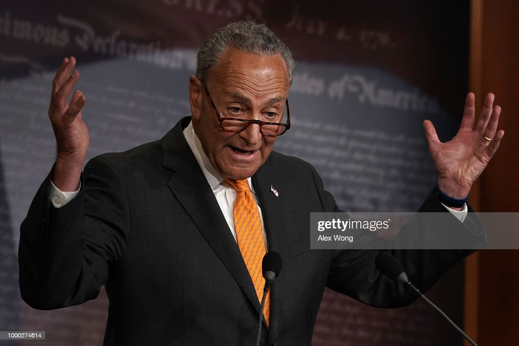 Chuck Schumer Holds Media Availability To Discuss Trump-Putin Summit