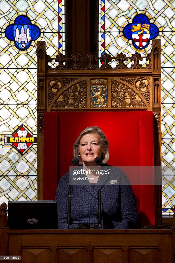 Senate President Ankie Broekers-Knol attends the opening of the parliamentary year on September 20, 2016 in The Hague, The Netherlands.