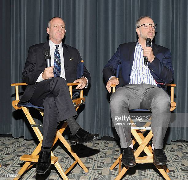 Senate President pro tem of the California senate Darrell Steinberg and Rick Jacobs Founder of the Courage Campaign attend the screening of Gods and...