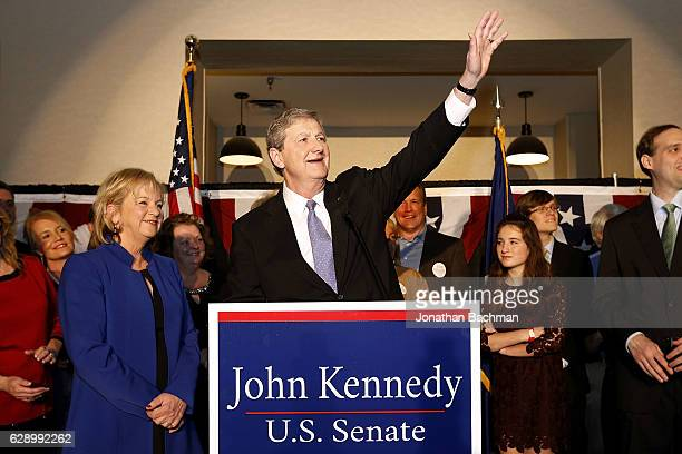 S Senate Republican candidate John Kennedy delivers a victory speech during an election party on December 10 2016 in Baton Rouge Louisiana Kennedy's...