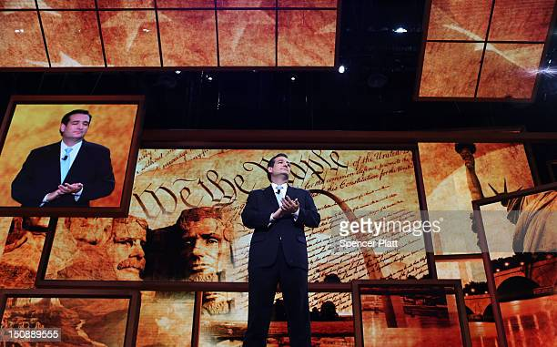 Senate Republican Candidate, Texas Solicitor General Ted Cruz speaks during the Republican National Convention at the Tampa Bay Times Forum on August...