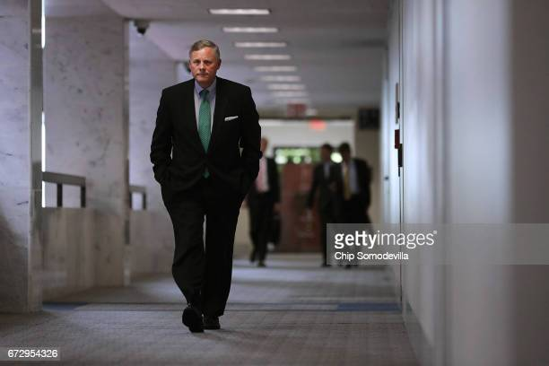 Senate Select Committee on Intelligence Chairman Richard Burr arrives for a closeddoor meeting in the Hart Senate Office Building on Capitol Hill...