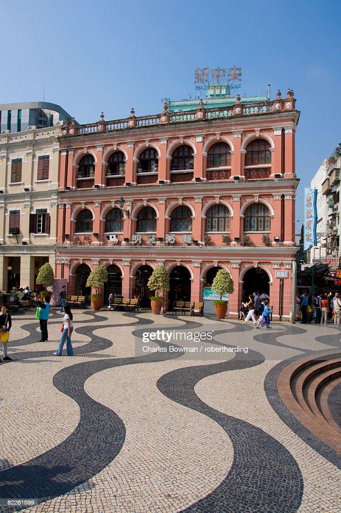Senate Square (Largo de Senado), Macau, China, Asia : Stock Photo