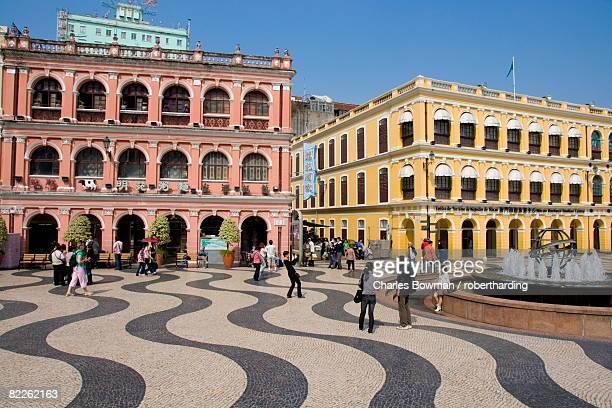 senate square (largo de senado), macau, china, asia - マカオ ストックフォトと画像