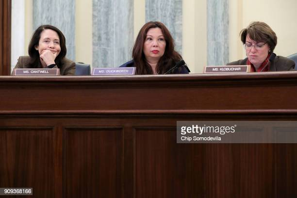 Senate Surface Transportation and Merchant Marine Infrastructure Safety and Security Subcommittee members Sen Maria Cantwell Sen Tammy Duckworth and...