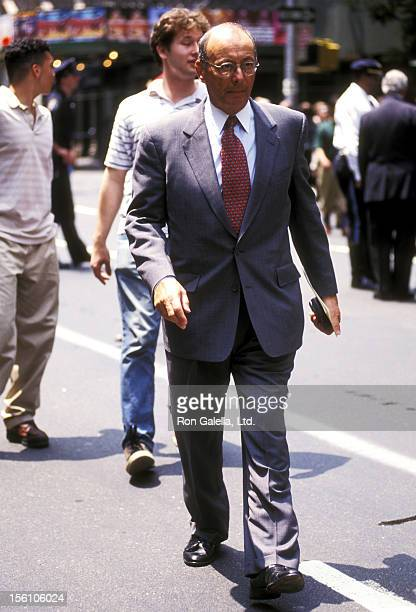 Senator Al D'Amato attends the Funeral Service for Fred Trump on June 29 1999 at the Marble Collegiate Church in New York City
