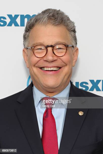 Senator Al Franken discusses politics at a SiriusXM Town Hall with host Julie Mason and The Hill's Bob Cusack on May 31 2017 in New York City