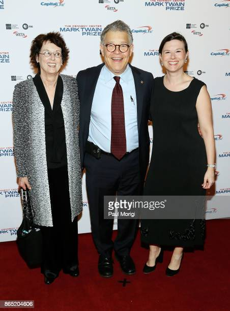 S Senator Al Franken Franni Bryson and their daughter Thomasin Franken arrive to the 2017 Mark Twain Prize for American Humor at The Kennedy Center...