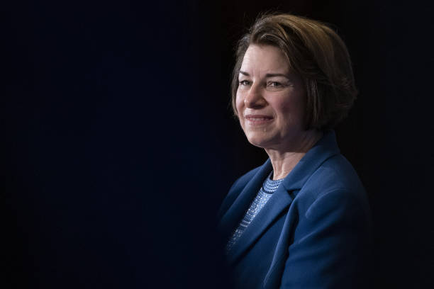 DC: Senator Amy Klobuchar Delivers Speech On First 100 Days At National Press Club