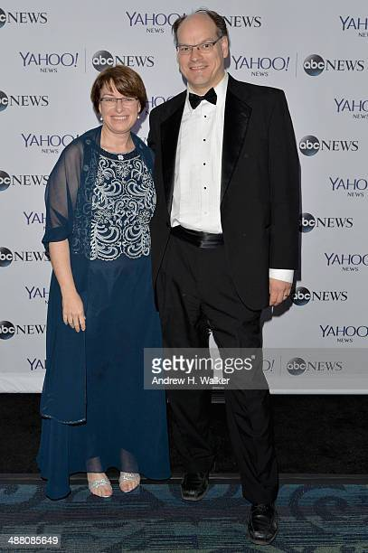 Senator Amy Klobuchar and John Bessler attends the Yahoo News/ABCNews PreWhite House Correspondents' dinner reception preparty at Washington Hilton...