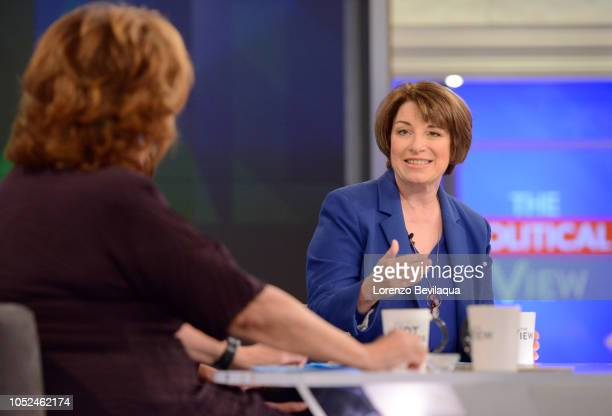 THE VIEW Senator Amy Klobuchar is the guest today Thursday October 18 2018 The View airs MondayFriday on the Walt Disney Television via Getty Images...