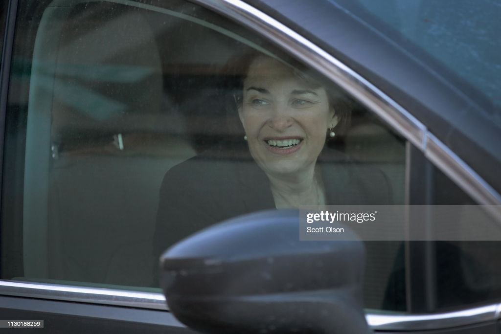IA: Democratic Presidential Candidate Amy Klobuchar Campaigns In Iowa