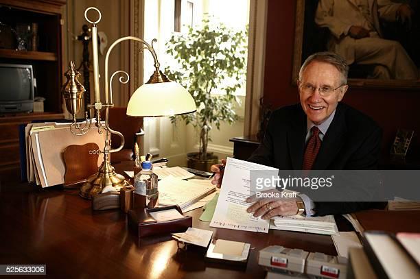 Senator and Democratic Minority Leader Harry Reid DNevada in his Capitol Hill office on November 10 2004