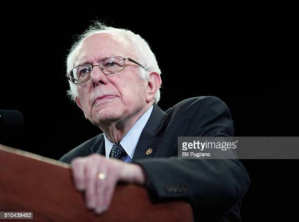 S Senator and Democratic Presidential Candidate Bernie Sanders holds his first campaign rally in Michigan at Eastern Michigan University February...