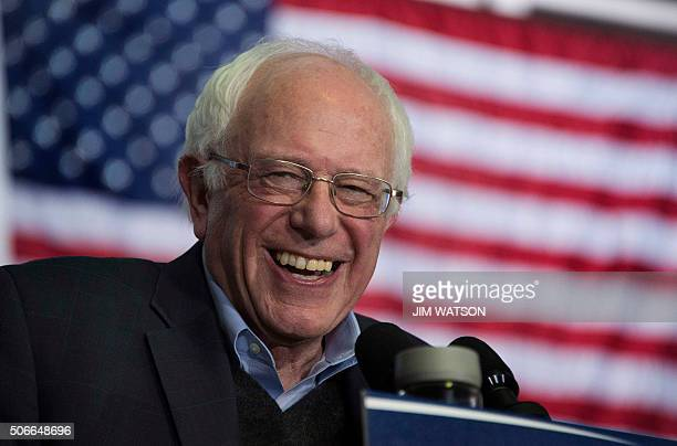 US Senator and Democratic Presidential Candidate Bernie Sanders speaks during a campaign event at the University of Northern Iowa in Cedar Falls Iowa...