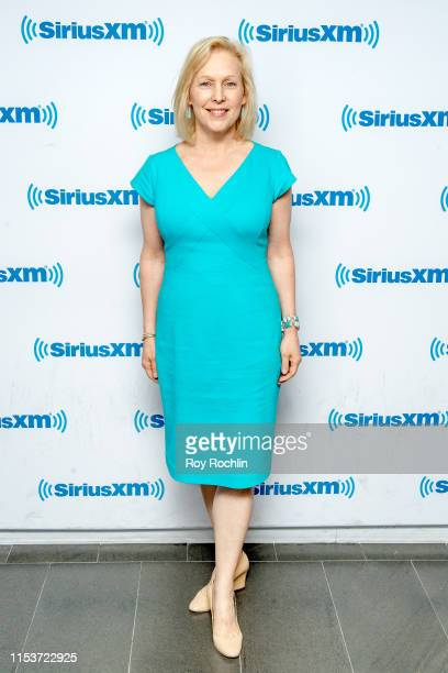 Senator and Presidential Candidate Kirsten Gillibrand visits SiriusXM Studios on June 04, 2019 in New York City.