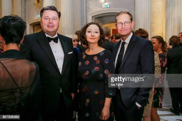 Senator Andreas Geisel German politician Ramona Pop and mayor of Berlin Michael Mueller during the ReOpening of the Staatsoper Unter den Linden on...